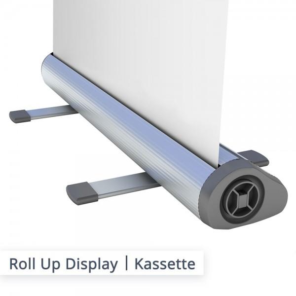 Roll Up Premium Kassette mit ausklappbarem Fuß
