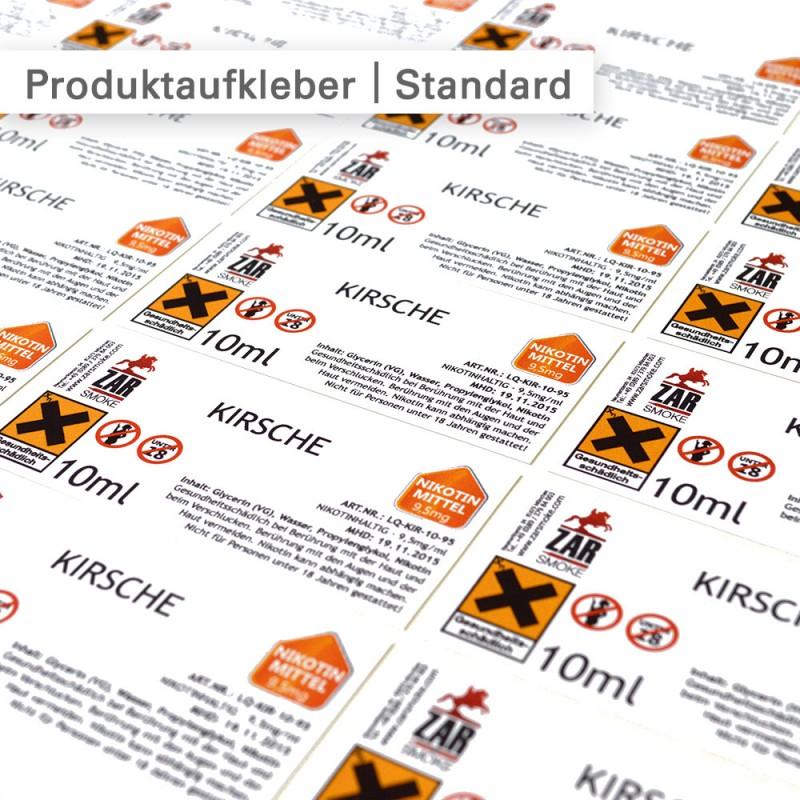 Standard Produktaufkleber | SalierDruck.de