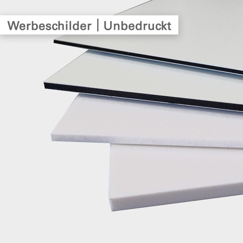 Werbeschilder | Das Plattenmaterial: Dibond – Dilite – Forex | SalierDruck.de