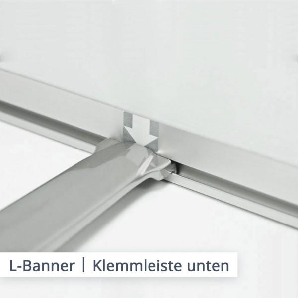 L-Banner Klemmleisten oben und unten
