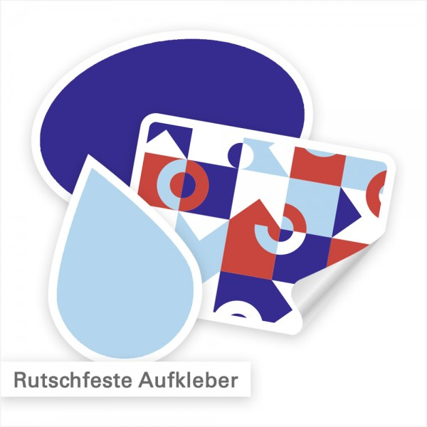 Fußbodenaufkleber - rutschhemmend auch ohne Laminat - SalierDruck.de