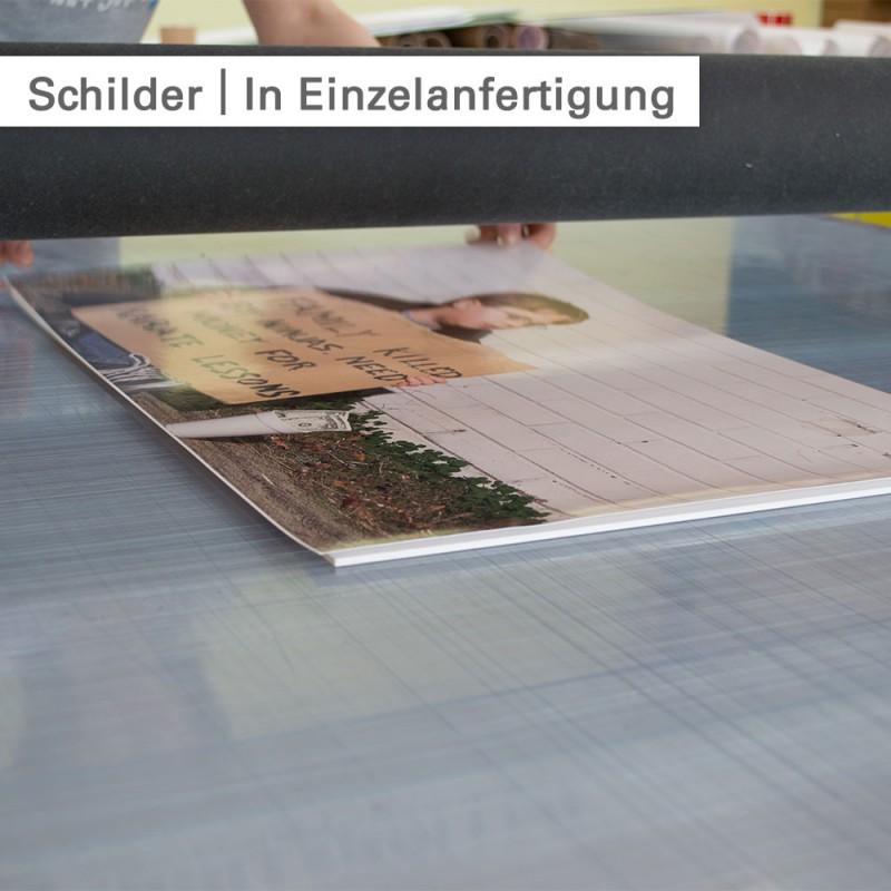 Schilder drucken - individuelle Schilder in Einzelanfertigung - SalierDruck.de