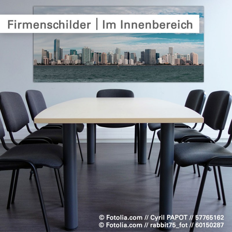 Firmenschilder im Innenbereich – bestellen bei SalierDruck.de