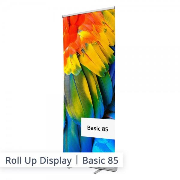 Wer auf der Suche nach einem einfachen und klassischen Werbeaufsteller ist, ist beim Basic Roll Up gut aufgehoben. Bestellen Sie Ihr bedrucktes Roll-Up-System noch heute.