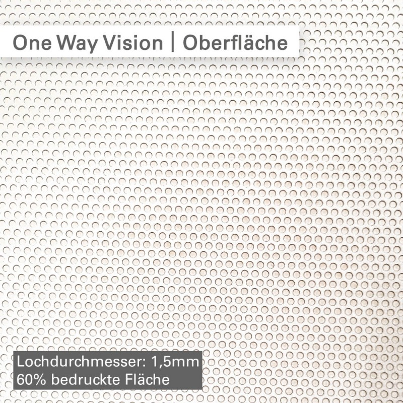 One Way Vision – Oberfläche – SalierDruck.de