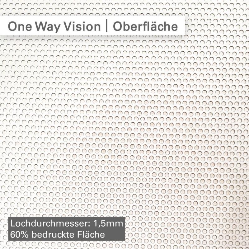One Way Vision Folie - bei SalierDruck.de individuell bedruckt mit Ihrem Motiv.