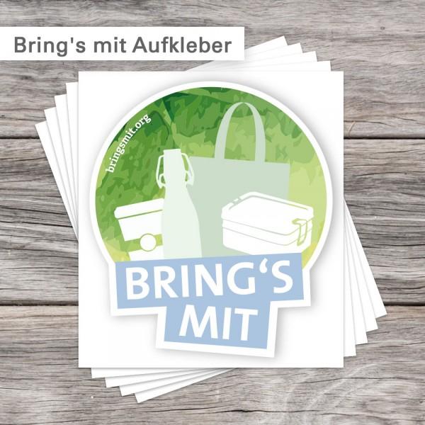 Bring's mit Aufkleber | SalierDruck.de
