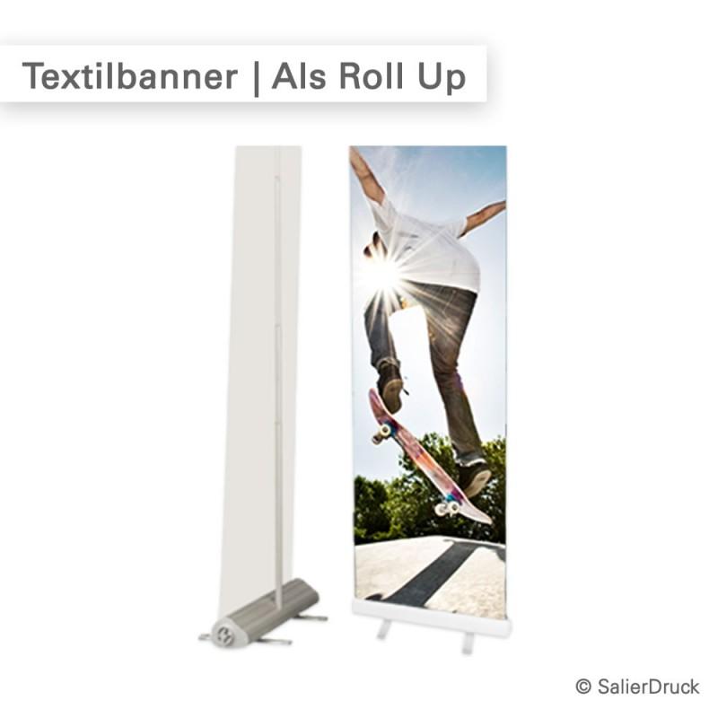 Textilbanner als individueller Roll Up | SalierDruck.de