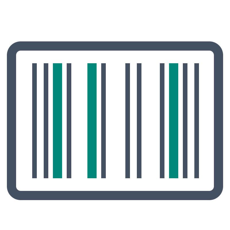 Produktaufkleber mit Barcodes werden mit ablösbaren Aufklebern verklebt um nach dem Verkauf einfach wieder entfernt zu werden.