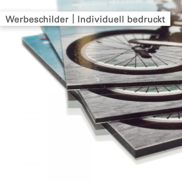 Werbeschilder günstig - Dilite Aluminiumverbund rechteckig - bedruckt