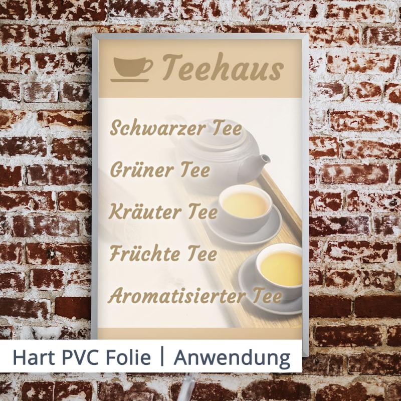 Zeigen Sie Ihre Tageskarte mit einem ansprechenden Druck auf Hart PVC.