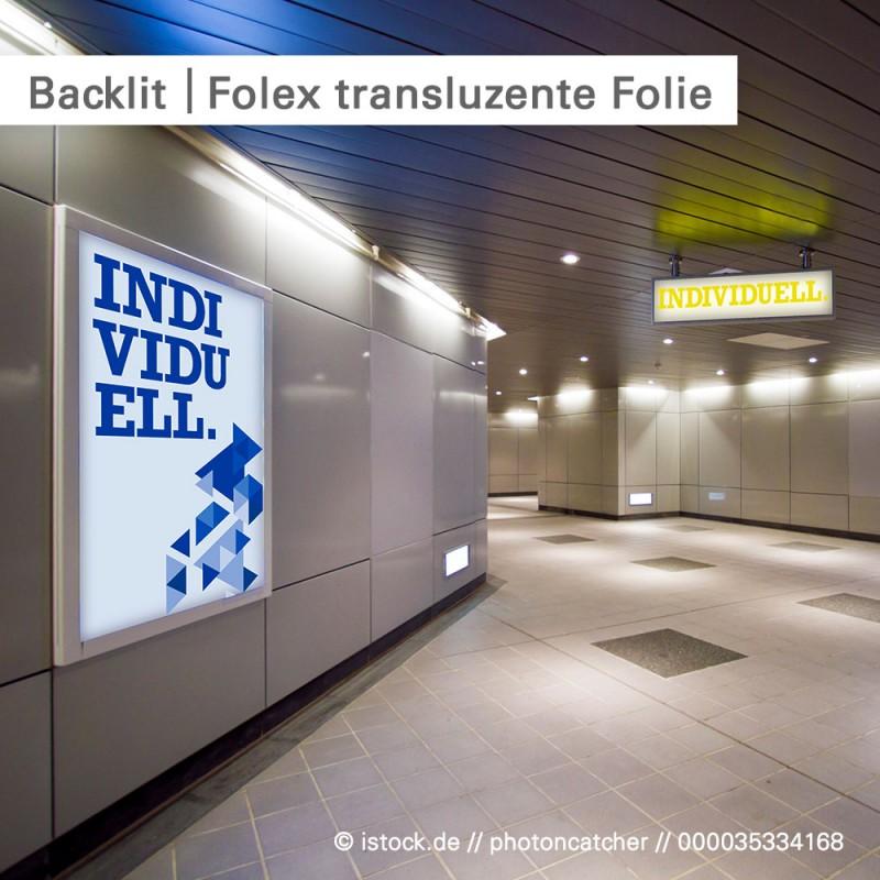 Backlit Folex Dialux transluzente Folie | SalierDruck.de