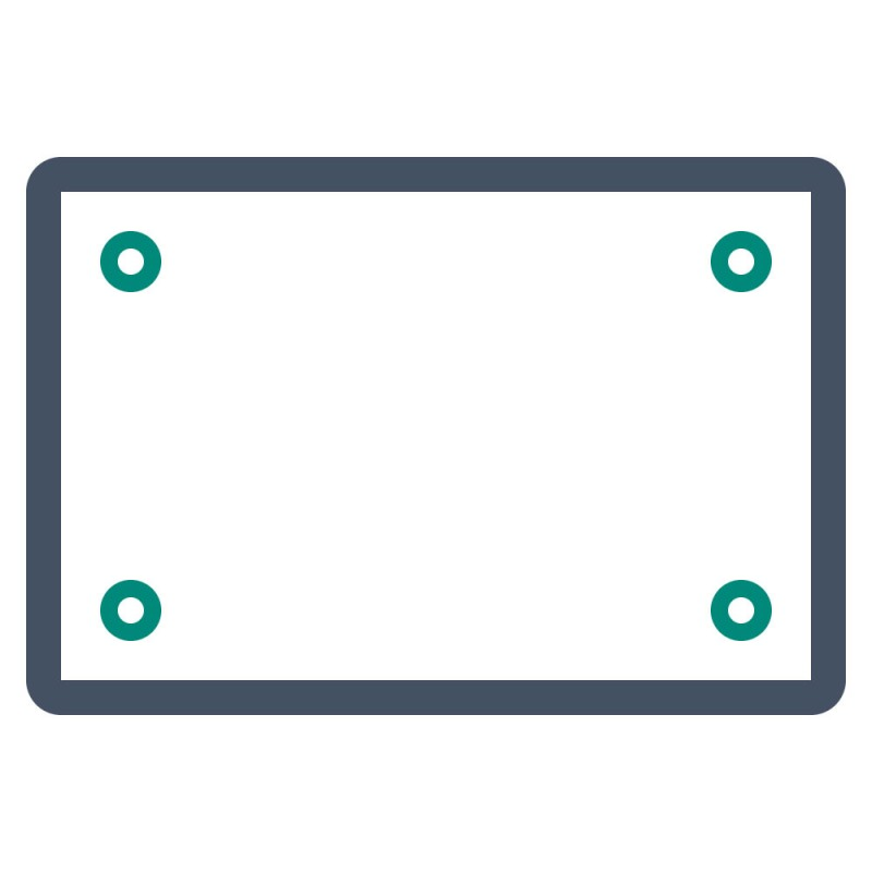 In der Werbetechnik finden Plattenzuschnitte als Schilder, Aufsteller oder Deckenhänger Verwendung.