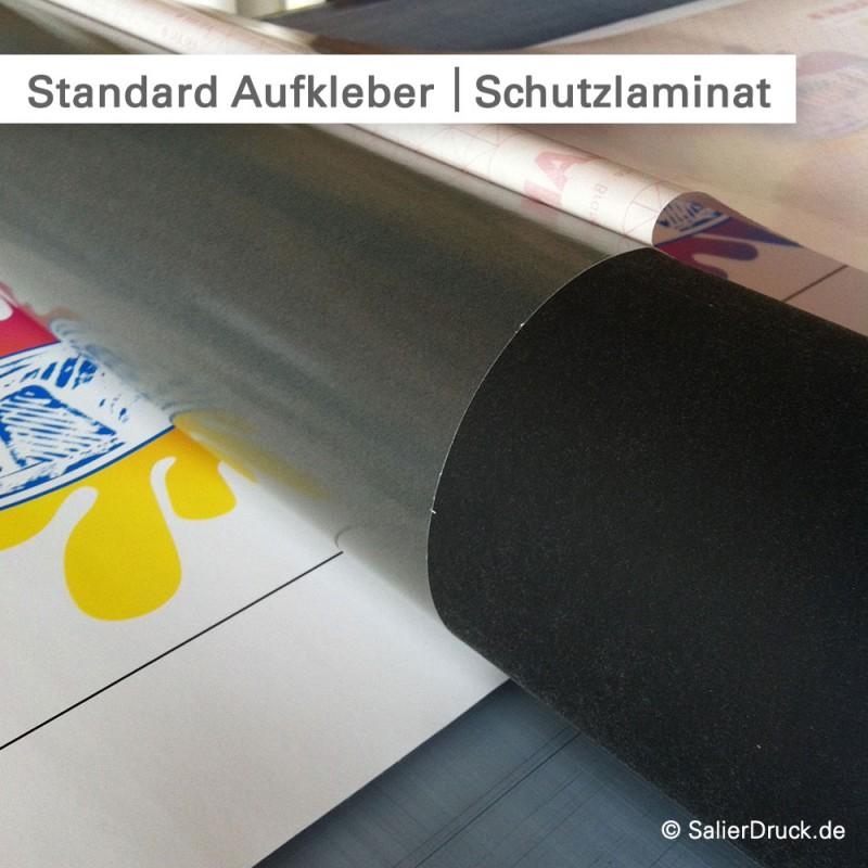 Aufkleber günstig drucken und mit Schutzlaminat versiegeln - SalierDruck.de