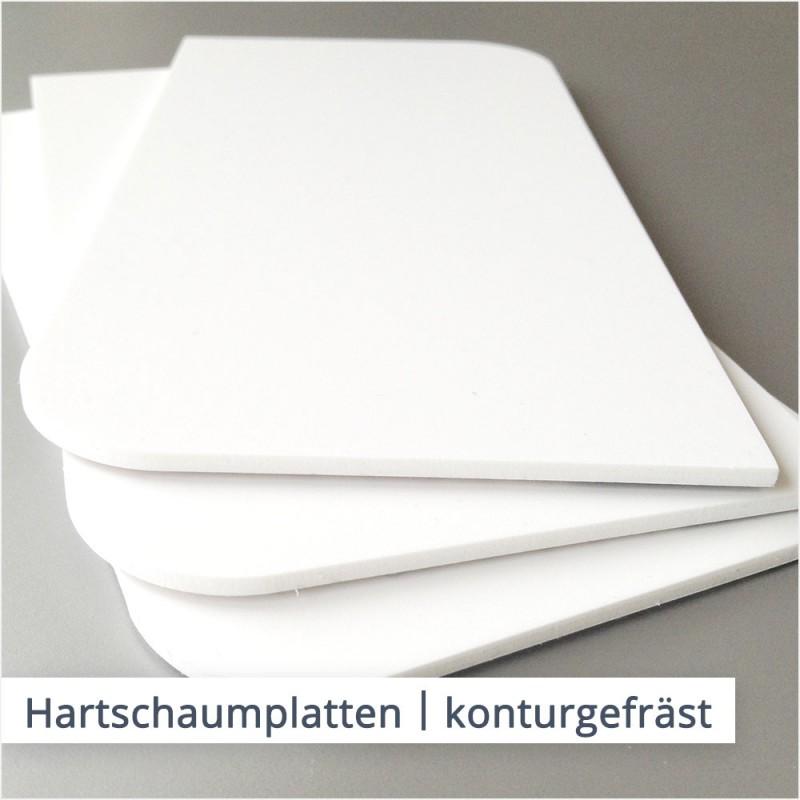 Hartschaumplatten bestehen aus aufgeschäumtem PVC-Material und sind besonders leicht und stabil.