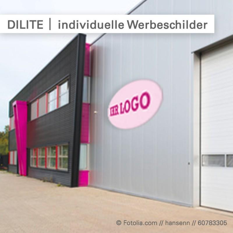 Schilder bedrucken - individuelle Formen bei SalierDruck.de