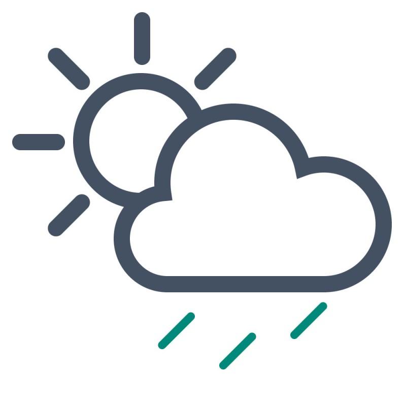 Stark haftende Aufkleber überstehen Regen, Schnee und Sonne im Außenbereich.