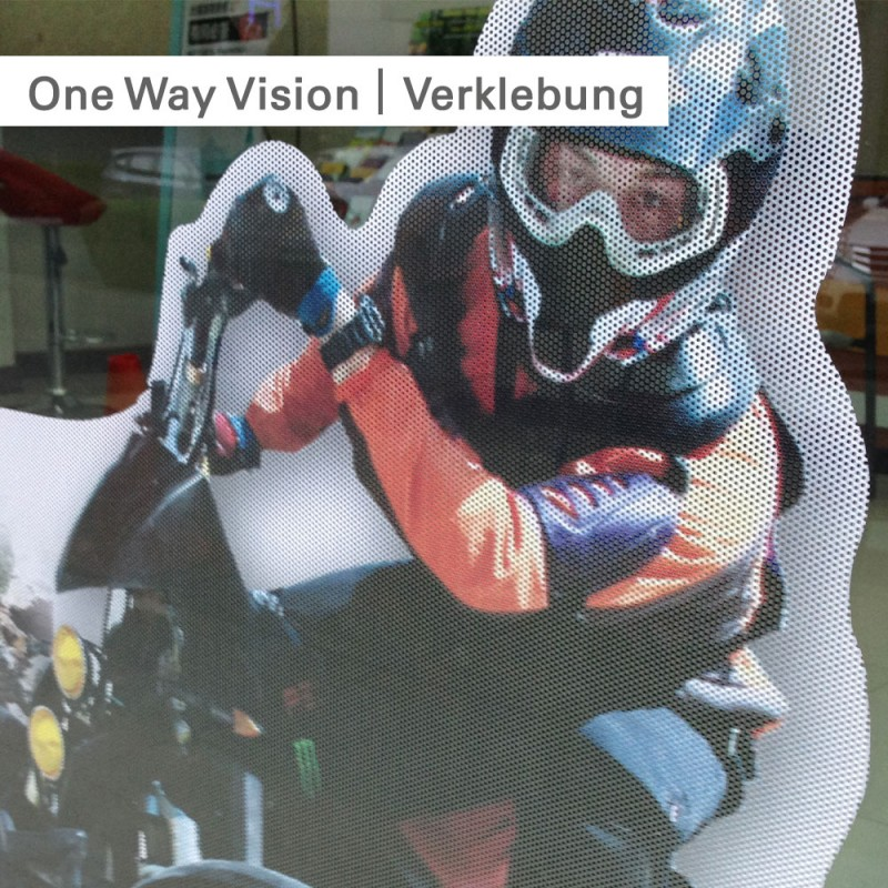 One Way Vision Folie bedrucken lassen bei SalierDruck.de