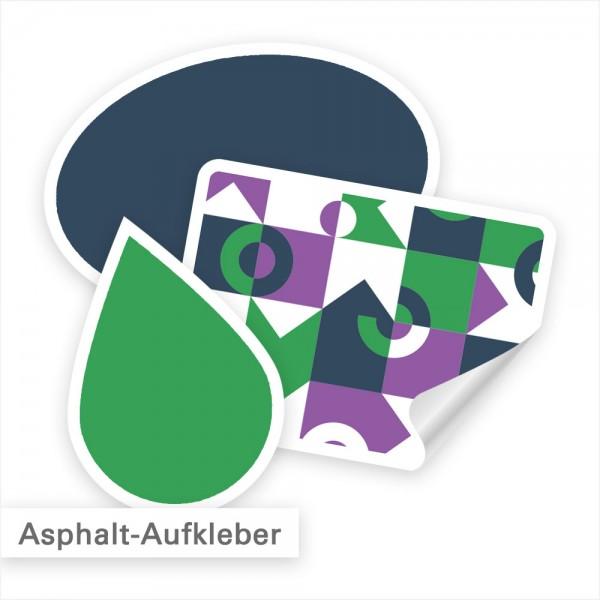 Asphaltaufkleber als Fußbodenaufkleber individuell bedruckt - SalierDruck.de