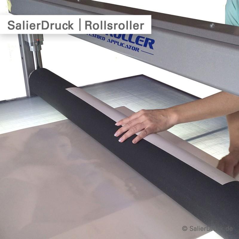Digitaldruck wird mit Schutzlaminat kaschiert - SalierDruck.de