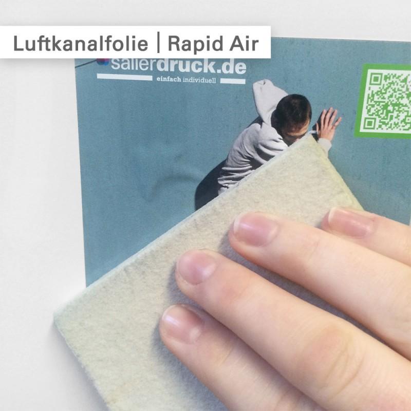 Rapid Air Luftkanalfolie zum blasenfreien Verkleben - SalierDruck.de