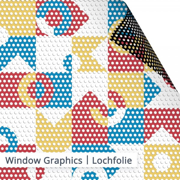 Lochfolie Window Graphics - individuell bedruckt - SalierDruck.de