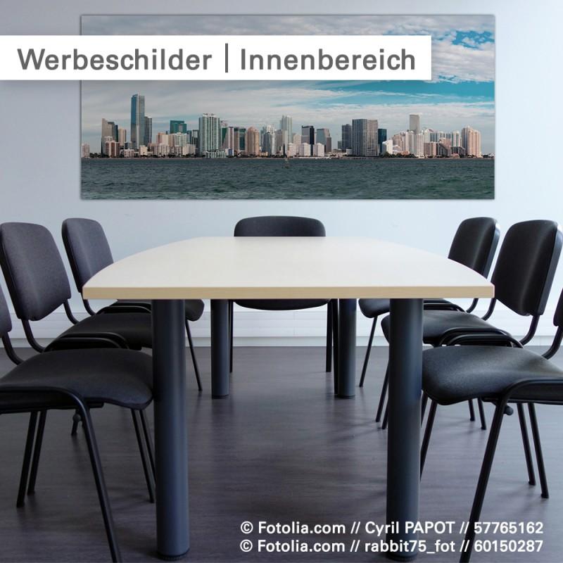 Werbeschilder im Innenbereich aus Forex - SalierDruck.de