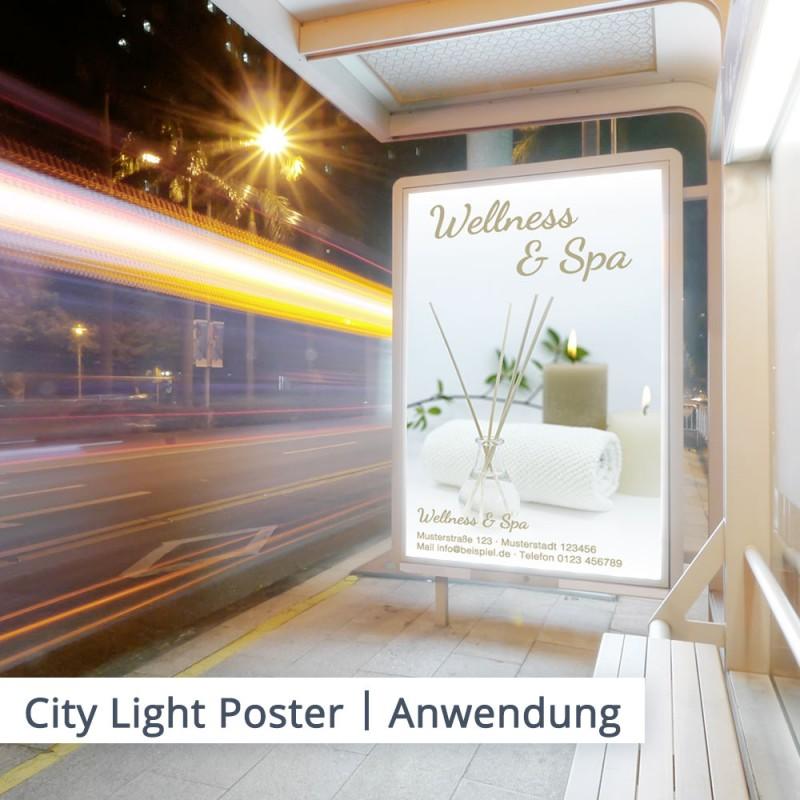 Bestellen Sie Ihr City Light Poster mit individuellem Aufdruck jetzt bei SalierDruck.de.