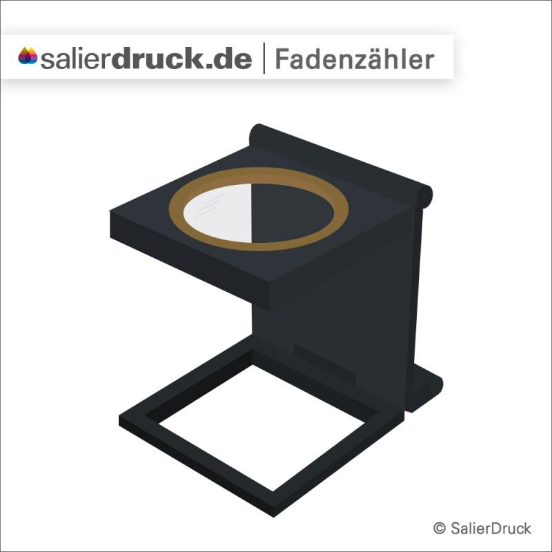 Grafische Darstellung eines Fadenzählers – Lexikon SalierBlog