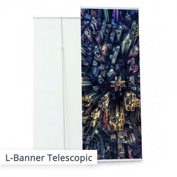 L-Banner incl. individuellem Bannerdruck – SalierDruck.de