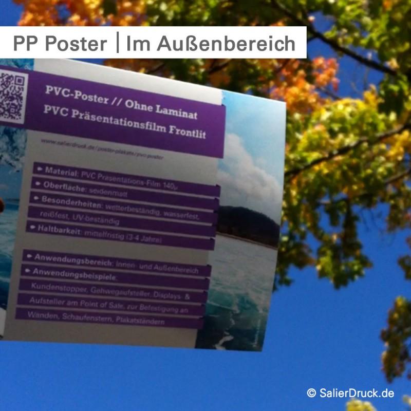 PVC Poster für draußen - individuell bedruckt - bestellen bei SalierDruck.de