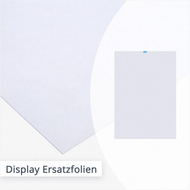 Ersatzfolien für Kundenstopper – mit Anti-Reflex-Folie | SalierDruck.de