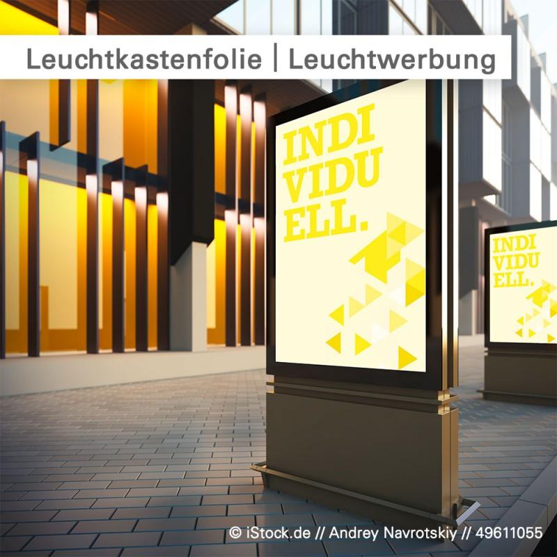 Leuchtkastenfolie für Leuchtwerbung günstig online kalkulieren und bestellen bei SalierDruck.de