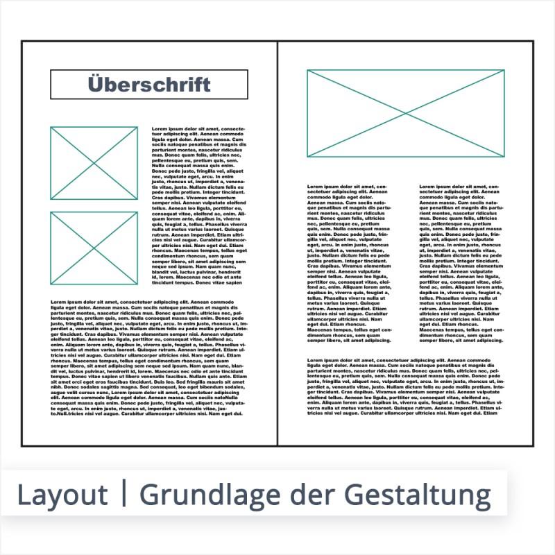 Das Layout ist das Grundgerüst für die Gestaltung verschiedener Elemente. Das Zusammenspiel aus Bild und Textfluss wird in darin bestimmt und festgelegt.