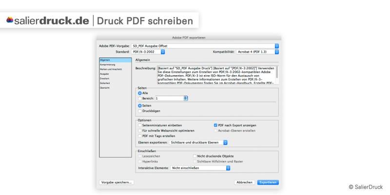 Druck-pdf schreiben – Datenzusammenführung | SalierDruck