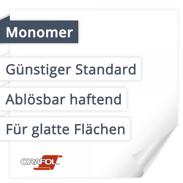 Orafol Orajet 3162 Monomer   Günstiger Standard   Ablösbar haftend   Für glatte Flächen