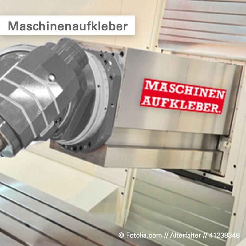 Maschinenaufkleber benzinbeständig - individuell bedruckt - Salierdruck.de