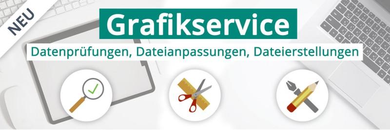 Neu: Unser professioneller Grafikservice für Ihre Datei. Druckdatenprüfung, Datenanpassungen und Dateierstellungen....