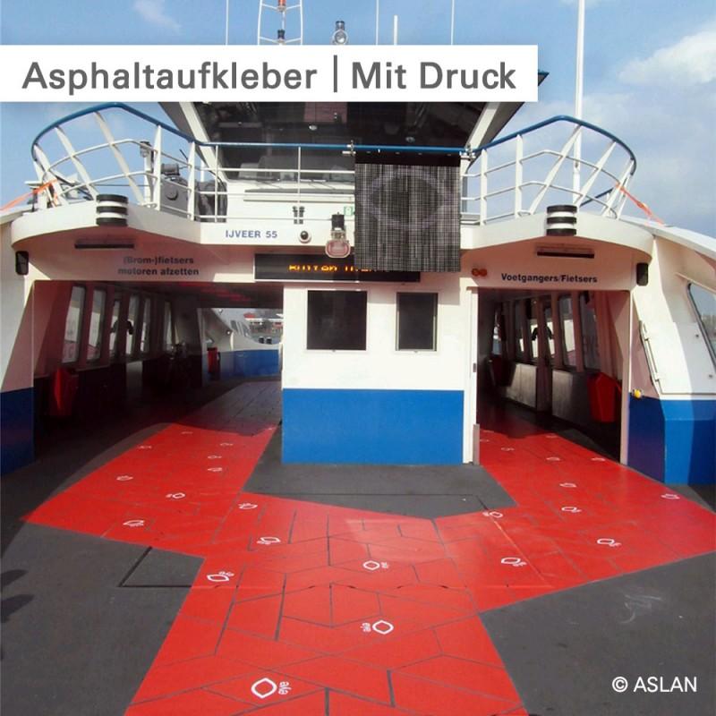 Asphaltaufkleber mit rutschfestem Laminat - SalierDruck.de