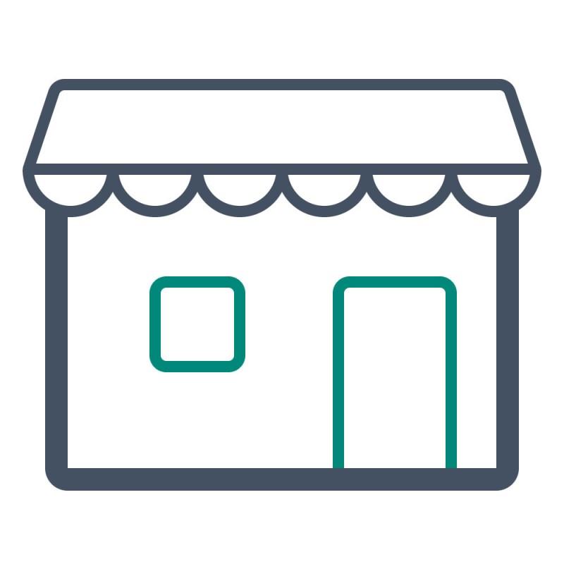 Bei der Inneneinrichtung von Geschäften kann ein großer Teil des Mobiliars aus leichten und stabilen Alu Verbundplatten gebaut werden.