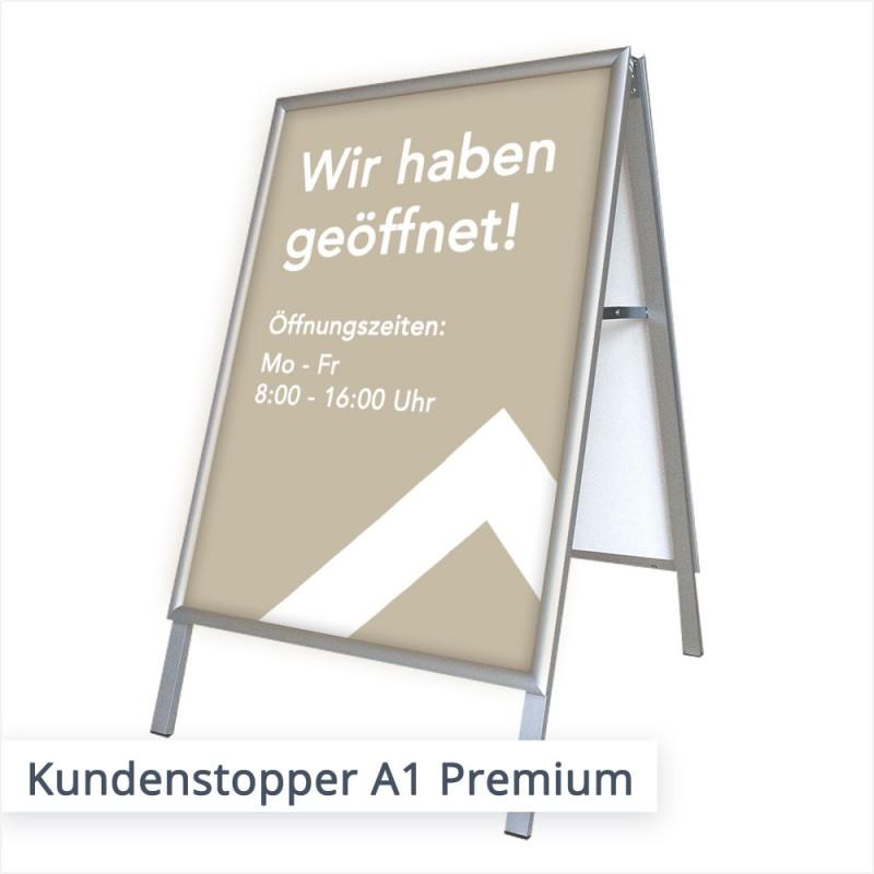 Kundenstopper Premium Modell | SalierDruck.de