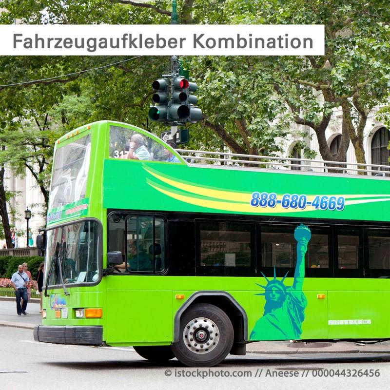 Fahrzeugaufkleber Kombination von One Way Vision und 3D Folien – SalierDruck.de
