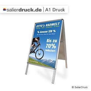 Das Druckformat A1 ist besonders bei Displaysystemen, Postern und Plakaten sehr beliebt.