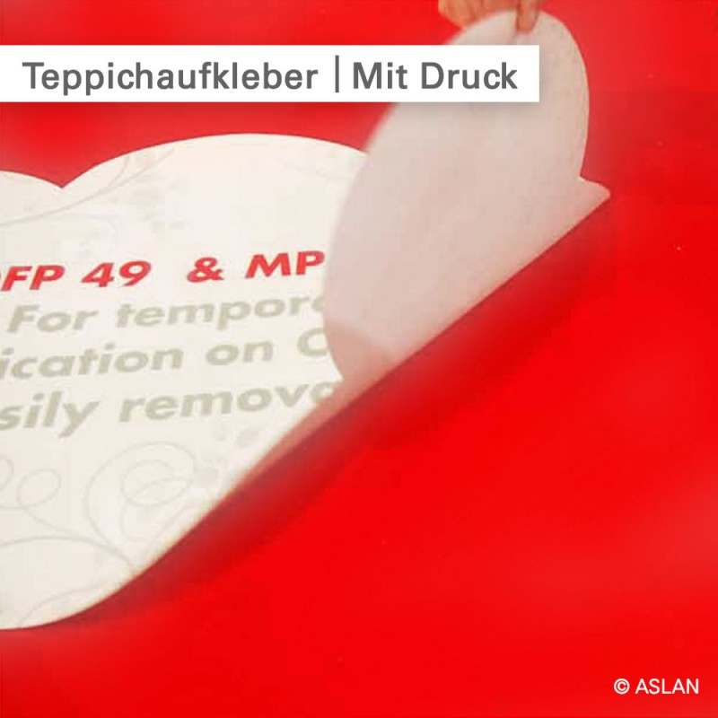 Teppichaufkleber mit rutschfestem Laminat - SalierDruck.de