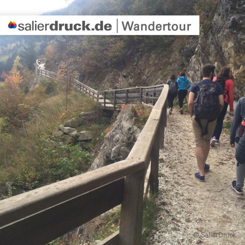 Die Wandertour zum Wasserfall Partschins.