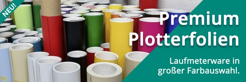 Premium Material in großer Farbauswahl - unsere Plotterfolien gehen weit über den Standard.