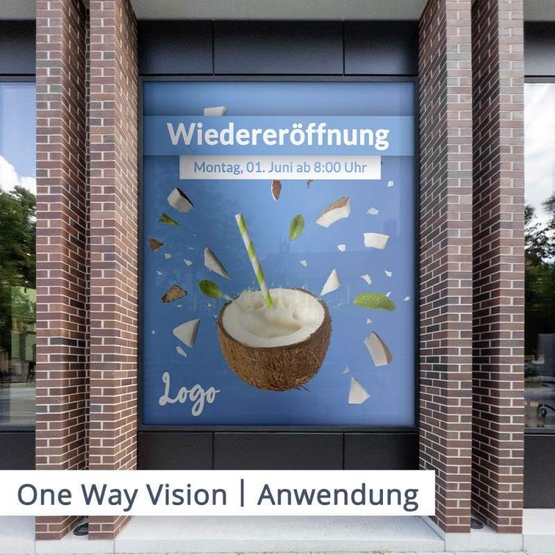 One Way Vision – Oberfläche – SalierDruck.de