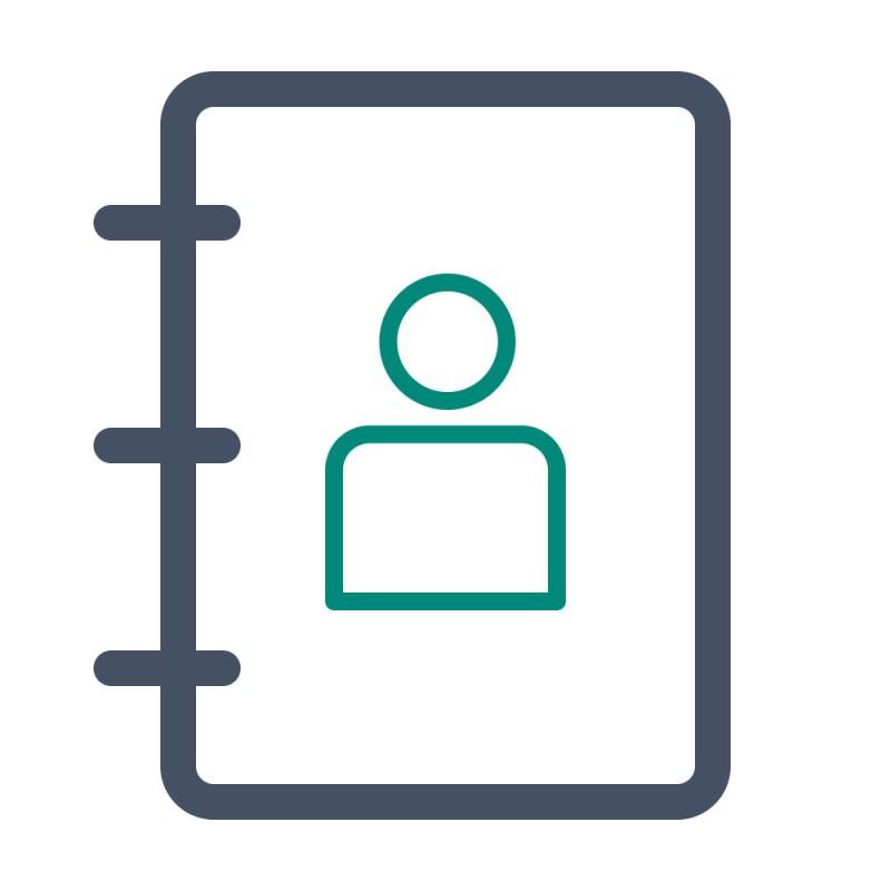 Oft wiederholte Daten wie Adressen können mit einem praktischen Sticker schnell auf Korrespondenz ergänzt werden.