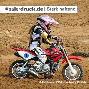 Aufkleber stark haftend | haften auch auf unebenen Untergründen | SalierDruck.de