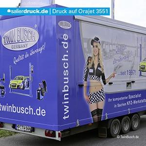 Beispiel eines LFP Drucks auf einem Fahrzeug – Kundenbeispiel twinbusch.de